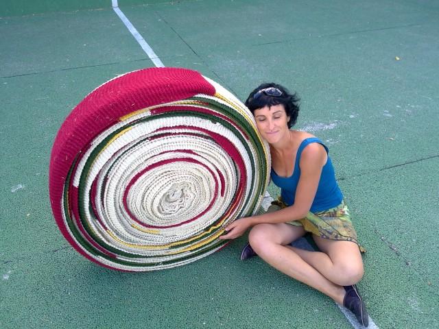 150 metros de bufanda de lana